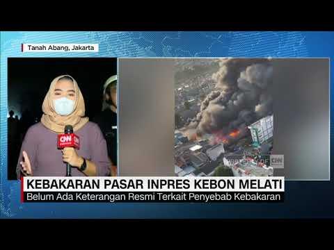 Puluhan Kios Pasar Inpres Kebon Melati Terbakar