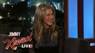 Download Jimmy Kimmel Confronts Jennifer Aniston About Her Friendsgiving Dinner Video