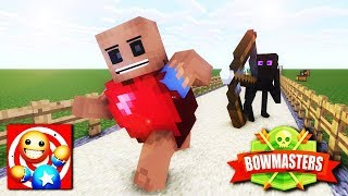 Download Monster School: KICK THE BUDDY CHALLENGE and Bowmasters - Minecraft Animation Video