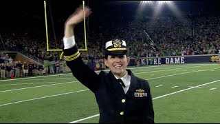 Download Lt. Jennifer Malherek recognized at Notre Dame vs. USC Video
