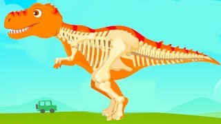 Download Fun Jurassic Dig Kids Games - Baby Find Dinosaur Bones With Cute Vehicles - Dino Game For Children Video