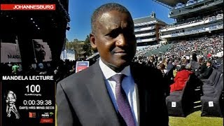 Download Aliko Dangote arrives for the Mandela Lecture Video