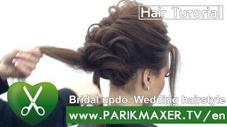 Download Bridal updo. Wedding hairstyle. Victoria Skimbator ★★★★★ parikmaxer TV USA Video