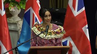Download The Duke and Duchess of Sussex visit to the University of the South Pacific. Video