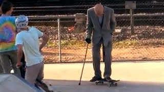Download Grandpa Pranks People at Skate Park! Video