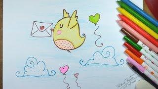 Download Como desenhar Passarinho Kawaii passo a passo Video