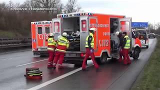 Download Verkehrsunfall Personen eingeklemmt BAB A2 Oberhausen Dortmund Mengede Rettungsgasse [Drehmaterial] Video