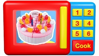 Download Toy microwave learn numbers for babies toddlers baking toy birthday cakes cupcakes Video