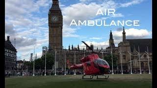 Download Very rare sight ! London's air ambulance landing next to Big Ben & Parliament house Video