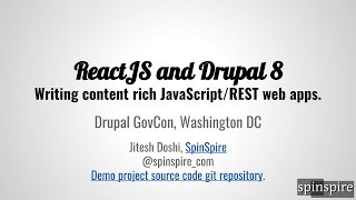 Download Rich Web Applications with ReactJS and Drupal 8 Video