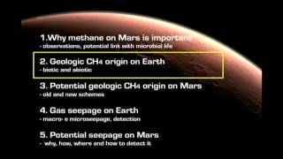Download Methane on Mars: potential origin and seepage - Giuseppe Etiope (SETI Talks 2016) Video