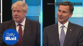 Download Boris Johnson and Jeremy Hunt clash in ITV leadership debate Video