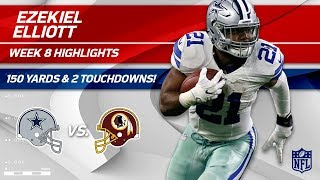 Download Ezekiel Elliott's 33 Carries, 150 Yards & 2 TDs! | Cowboys vs. Redskins | Wk 8 Player Highlights Video