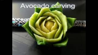 Download BEST AVOCADO CARVING ROSE !!! BEGINER LESSON !!! Video