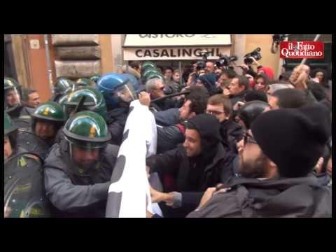 Protesty w Rzymie, 3 grudnia 2014