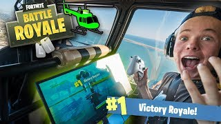 Download Playing FORTNITE in a HELICOPTER! (1000ft in the SKY) Video