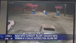 Download Gunshot victim causes fatal crash in Dallas Video
