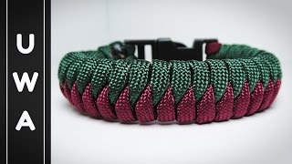 How to Tie a Snake Knot Paracord Bracelet with Buckles Tutorial Free