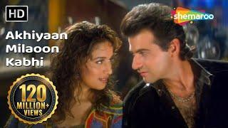 Download Akhiyaan Milaoon Kabhi   Raja Songs   Madhuri Dixit   Sanjay Kapoor   Udit Narayan   Alka Yagnik Video