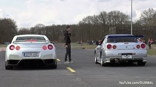 Download Nissan Skyline GT R34 Mines Stage 2 +++ vs Nissan GT-R Switzer P800 Video