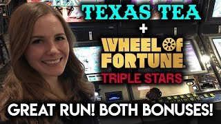 Download GREAT Run! Texas Tea!!! Both Bonuses! Wheel of Fortune Max Bet! Video