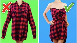 Download 33 COOL AND SIMPLE CLOTHING LIFE HACKS AND CRAFTS Video