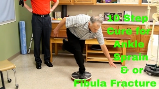 Download 10 Step Cure for Ankle Sprain & or Fibula Fracture. Exercises & Rehab Video