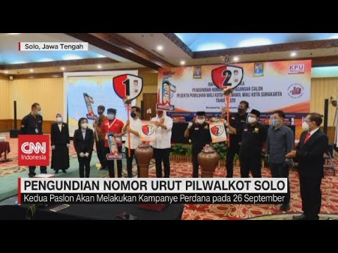 Pengundian Nomor Urut Pilwalkot Solo & Surabaya