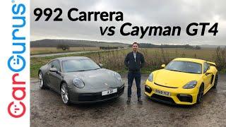Download 2020 Porsche 992 Carrera vs 718 Cayman GT4: Two great cars, one tough decision | CarGurus UK Video