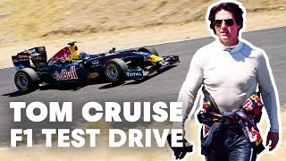 Download Tom Cruise test drives Red Bull Racing F1 car Video
