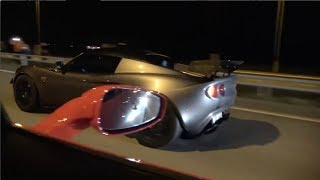 Download Crazy Guy in Ferrari 458 Surprised by Supercharged K20 Lotus on the highway! Video