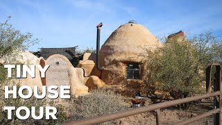 Download Unique Off Grid Earth Bag Tiny House Tour - Bisbee Arizona Video