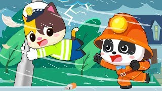 Download Angin Kencang Melanda Kampung Bayi Panda   Bayi Panda Tidak Pernah Takut   BabyBus Bahasa Indonesia Video