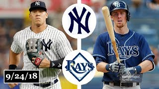 Download New York Yankees vs Tampa Bay Rays Highlights || September 24, 2018 Video