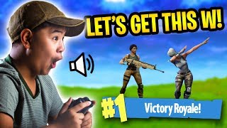 Download LITTLE KID TRIES TO GET HIS FIRST WIN! *VOICE TROLLING!*   Fortnite Battle Royale Video