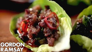 Download Chilli Beef Lettuce Wraps - Gordon Ramsay Video