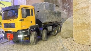 Download HEAVY RC TRANSPORT OF 60t CARRARA MARMOR! rc live action toys Video