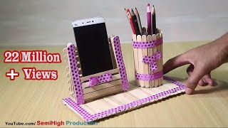 Download Homemade Pen stand and Mobile phone holder with ice cream sticks Video