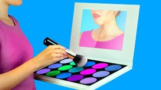 Download 9 DIY Weird Makeup Ideas / Miniature And Giant Makeup Video