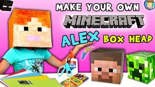 Download HOW-TO Make a MINECRAFT ALEX Box Head! (FUNnel Vision DIY Cosplay Tutorial w/ Lexi) ✂ Video
