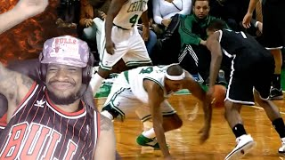 Download HE'S ON ALL FOURS! THE TOP 10 NBA CROSSOVERS OF ALL TIME REACTION! Video