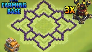 Download CoC- ″NEW!″ BEST TOWN HALL 7 (TH7) FARMING (HYBRID) BASE with 3 Air Defenses - New Update 2016 Video