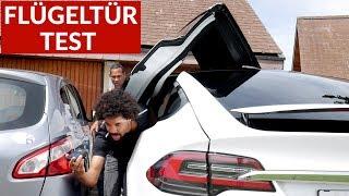 Download Tesla Model X Flügeltüren Test In Parkhaus + Enge Parklücke Video