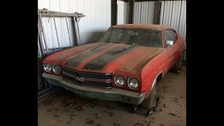 Download KING OF THE MUSCLECARS BARN FIND 1970 CHEVELLE SS454 LS6 M22 FOUND IN ST. LOUIS!!! Video