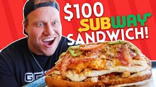 Download $100 Subway Sandwich CHALLENGE! Video