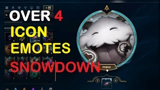 Download SNOWDOWN SWEETS CRAFTING - Opening 4 Icons Snowdown Emotes | League of Legends Video