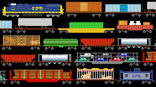 Download Freight Train Cars - Trains - Railway Vehicles - The Kids' Picture Show (Fun & Educational) Video