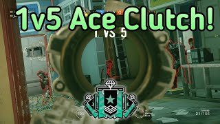 Download Brutal 1v5 Ace Clutch! :Xbox Diamond - Ranked Highlights - Rainbow Six Siege Gameplay Video