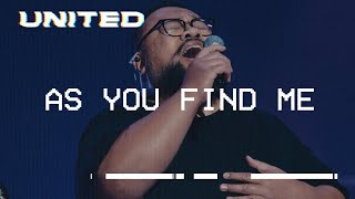 Download As You Find Me (Live) - Hillsong UNITED Video