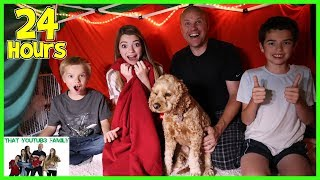 Download 24 Hours In Huge Blanket Fort / That YouTub3 Family Video